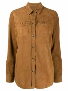 Stewart suede shirt jacket - Brown