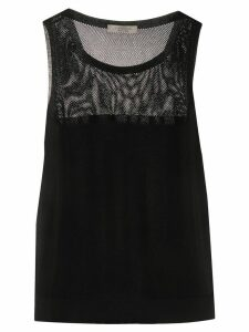 D.Exterior mesh panelled vest top - Black