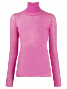 Isabel Marant long-sleeved roll-neck top - PINK