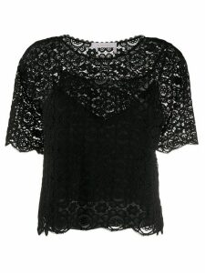See by Chloé lace T-shirt - Black