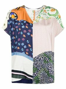 See by Chloé patchwork print top - Blue