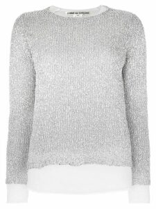 Comme Des Garçons ribbed lurex sweater - Metallic