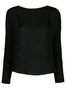 Nili Lotan silk long sleeve top - Black