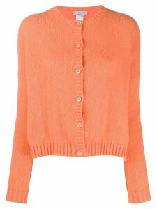 Avant Toi round neck cardigan - ORANGE