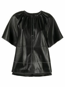 STAND STUDIO gathered short sleeve top - Black