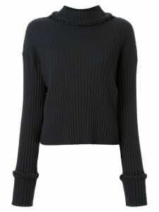 Dion Lee braid trimmed jumper - Black