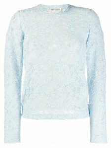 Comme Des Garçons sheer lace T-shirt - Blue