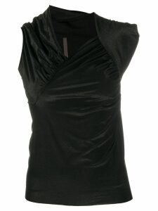 Rick Owens Lilies asymmetrical fitted top - Black