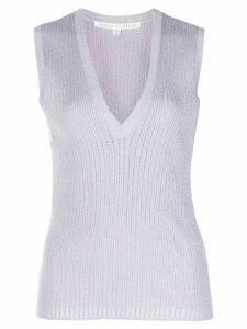 Veronica Beard knitted plunge style tank top - PURPLE