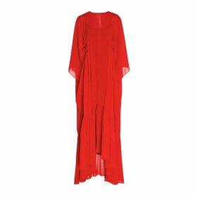 Noon By Noor Havant High Low Red Dress