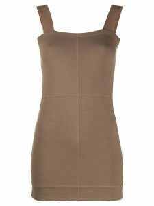 Lemaire square neck jersey top - NEUTRALS