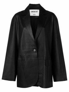S.W.O.R.D 6.6.44 oversized leather blazer - Black