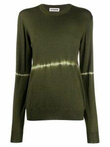 Jil Sander tie-dye stripe jumper - Green