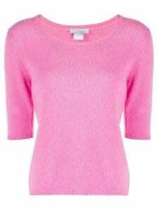 Avant Toi knitted short-sleeve pullover - PINK