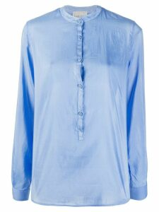 Forte Forte band collar shirt - Blue