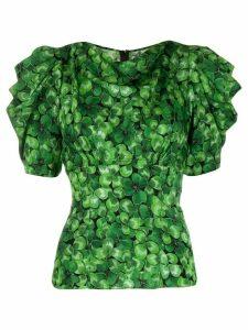 Dolce & Gabbana clover print top - Green