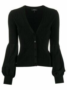 Theory Ottoman Knit Blouson cardigan - Black