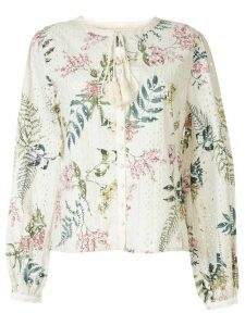 We Are Kindred floral long-sleeve blouse - NEUTRALS