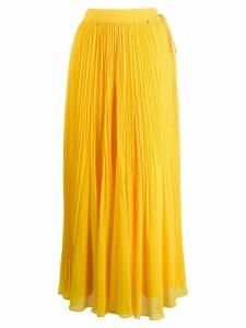 Irina Schrotter pleated maxi skirt - Yellow