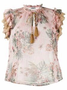 LIU JO floral print blouse - PINK
