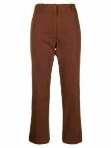 Nº21 cropped pleated trousers - Brown
