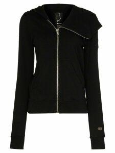 Rick Owens X Champion asymmetric zip hoodie - Black