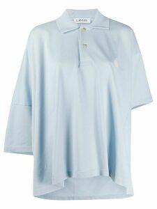LANVIN oversized cotton polo - Blue