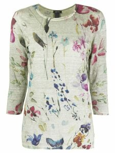 Avant Toi floral print knitted top - Green