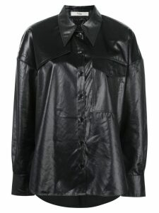 Tibi pointed collar utility shirt - Black