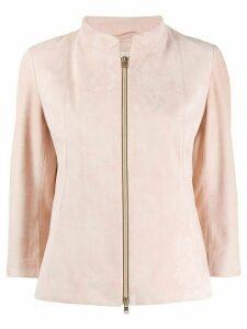 Herno suede zip-up jacket - PINK