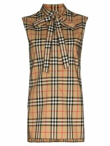 Burberry Vintage check sleeveless shirt - Brown