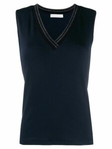 Fabiana Filippi v-neck tank top - Blue