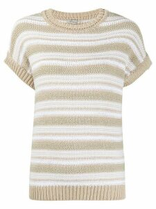 Peserico short-sleeved sweater - NEUTRALS