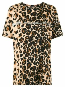 Mugler leopard logo T-shirt - Brown