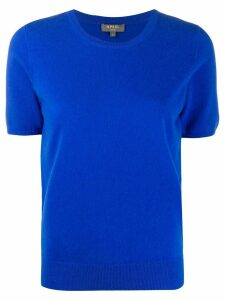 N.Peal short-sleeved cashmere top - Blue