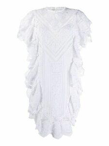 Isabel Marant Zanetti embroidered mini dress - White