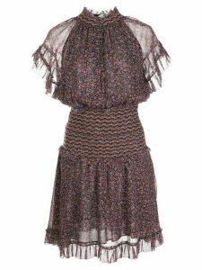 Jonathan Simkhai Serena silk floral dress - Black