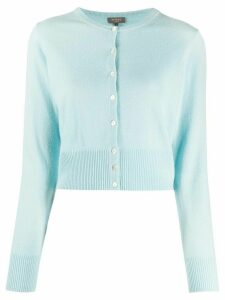 N.Peal cropped cashmere cardigan - Blue