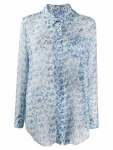 Acne Studios floral-print chiffon blouse - White