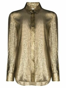 Saint Laurent lamé shirt - GOLD