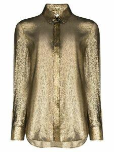 Saint Laurent lamé shirt - GOLD