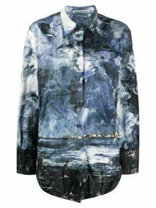 Acne Studios oversized landscape-print shirt - Blue