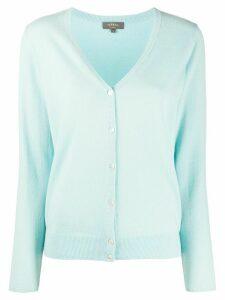 N.Peal V-neck cashmere cardigan - Blue