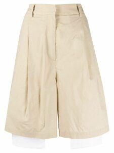 Maison Flaneur high-waisted wide-leg shorts - NEUTRALS