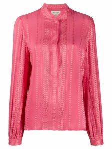 Zeus+Dione jacquard design blouse - PINK