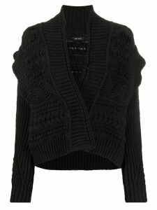 Isabel Marant chunky knit cardigan - Black
