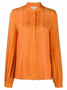 Zeus+Dione jacquard design blouse - ORANGE