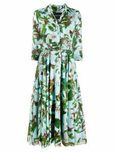 Samantha Sung Aster floral-print dresses - Blue