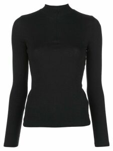 Vince turtleneck zipped jumper - Black