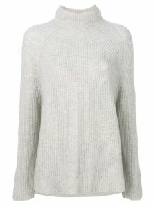 N.Peal ribbed high-neck sweater - NEUTRALS